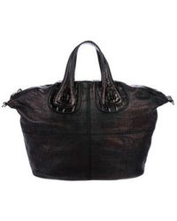 a780ad5649f8 Givenchy - Embossed Leather Nightingale Satchel Black - Lyst