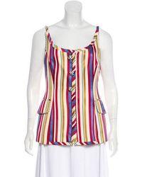 Dior - Sleeveless Vest Top Multicolor - Lyst