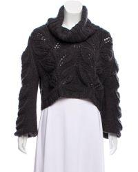 By Malene Birger - Cropped Wool-blend Sweater Wool - Lyst