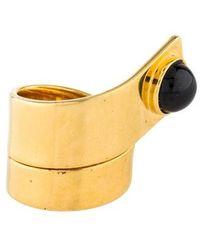 Lizzie Fortunato - Black Spinel Escher Ring Gold - Lyst