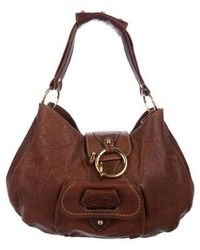 Tod's - Textured Leather Handle Bag Brown - Lyst