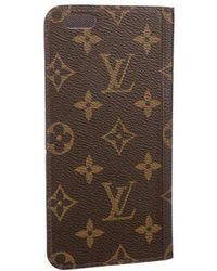 Louis Vuitton - 2016 Monogram Iphone 6 Folio Case Brown - Lyst