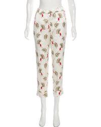 Piamita - Silk Mid-rise Pants - Lyst