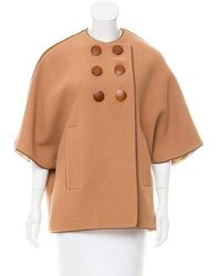 Martin Grant - Leather-trimmed -angora Poncho - Lyst