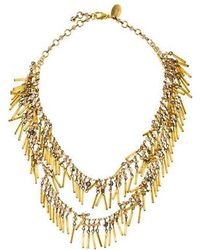 Erickson Beamon - Bead Fringe Double Strand Necklace Gold - Lyst