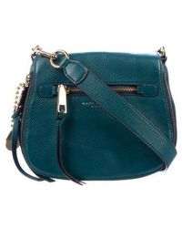 f2706f57ca1d Marc Jacobs - Recruit Small Nomad Saddle Bag Blue - Lyst