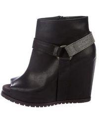 Brunello Cucinelli - Monili Wedge Boots - Lyst