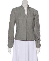 Akris Punto - Textured Wool Jacket Grey - Lyst