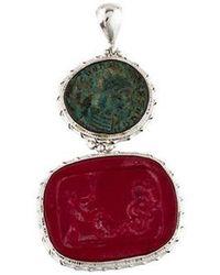 Tagliamonte - Roman Coin Glass Pendant Silver - Lyst