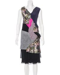 Michael van der Ham - Sleeveless Textured Dress Multicolor - Lyst