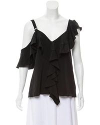 9b6d7bedab238 Lyst - Proenza Schouler Sleeveless Mock Neck Top W  Tags in Black
