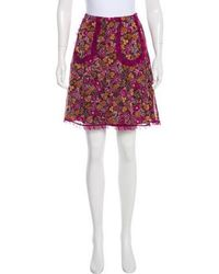 Anna Sui - Floral Print A-line Skirt Multicolor - Lyst