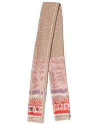 Cacharel - Printed Woven Scarf Beige - Lyst