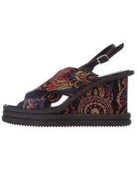 Dries Van Noten - Leather Slingback Sandals Black - Lyst
