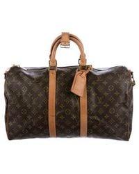 Louis Vuitton - Monogram Keepall Bandoulière 45 Brown - Lyst