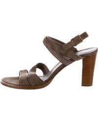 Loro Piana - Suede Multistrap Sandals - Lyst