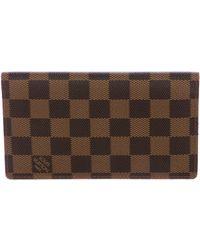 Louis Vuitton - Damier Ebene Checkbook Wallet Brown - Lyst