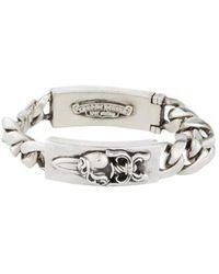 Chrome Hearts - Dagger & Cross Id Bracelet Silver - Lyst