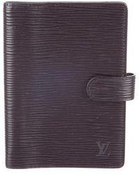 94ccf1e86a46 Lyst - Louis Vuitton Medium Epi Electric Agenda Cover Black in Metallic