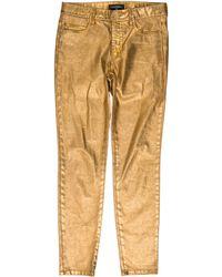 Chanel - Paris-dubai Mid-rise Jeans Gold - Lyst