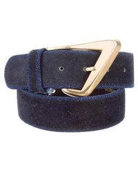 Dior - Suede Buckle Belt Navy - Lyst