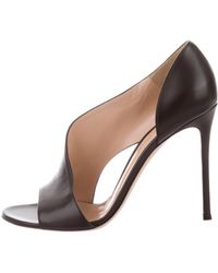Gianvito Rossi - Leather Cutout Sandals - Lyst