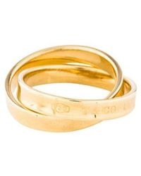 Tiffany & Co. - 1837 Interlocking Circles Ring Yellow - Lyst