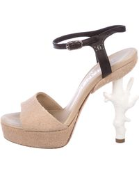 Chanel - Fantasy Coral Sandals Tan - Lyst