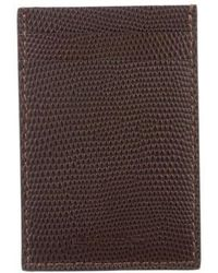 Etro - Grained Leather Card Case - Lyst