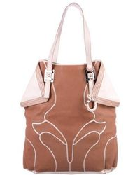 Ferragamo - Leather Origami Tote Pink - Lyst