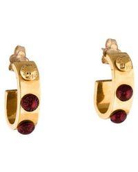 Louis Vuitton - Gimme A Clue Hoop Earrings Gold - Lyst