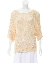 Rachel Zoe - Texture Knit Top Tan - Lyst