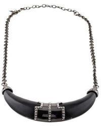 Kara Ross - Kara By Ross Resin & Crystal Horn Collar Necklace - Lyst