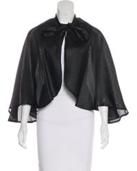 Givenchy - Vintage Woven Capelet - Lyst