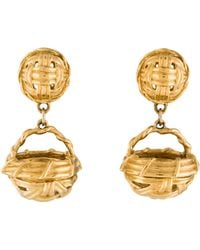 Givenchy - Woven Basket Clip-on Earrings Gold - Lyst