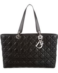 Dior - Cannage Leather Tote Black - Lyst