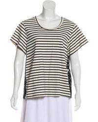 Sea - Short Sleeve Knit Top - Lyst