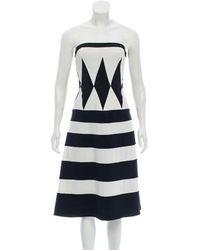 Giulietta - Strapless Striped Dress - Lyst