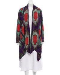 SUNO - Wool Long Sleeve Knit Cardigan Mint - Lyst