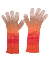 Missoni - Cashmere Striped Gloves Orange - Lyst