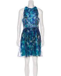 Matthew Williamson - Silk-blend Organza Dress W/ Tags Aqua - Lyst