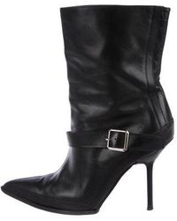 Narciso Rodriguez - Pointed Ankle-strap Booties Black - Lyst