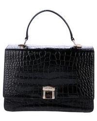 Etro - Embossed Leather Handle Bag Black - Lyst