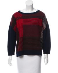 Band of Outsiders - Oversize Wool Sweater Navy - Lyst