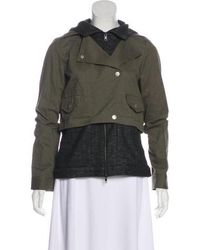 Thakoon Addition - Hooded Zip-up Jacket W/ Tags Olive - Lyst