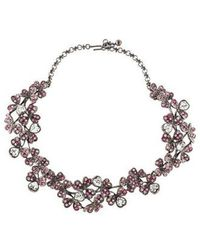 Kenneth Jay Lane - Crystal Clover Collar Necklace - Lyst