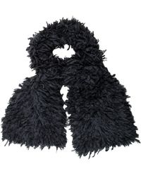 Junya Watanabe - Chunky Knit Mohair Scarf W/ Tags Blue - Lyst