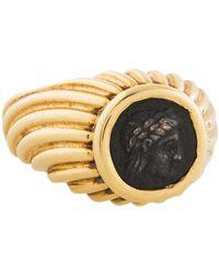bvlgari 18k monete coin ring yellow lyst
