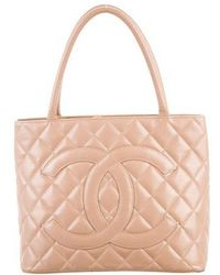 Chanel - Caviar Medallion Tote Beige - Lyst