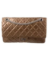 0ee6e92a0900 Lyst - Chanel Reissue 227 Double Flap Bag Silver in Metallic